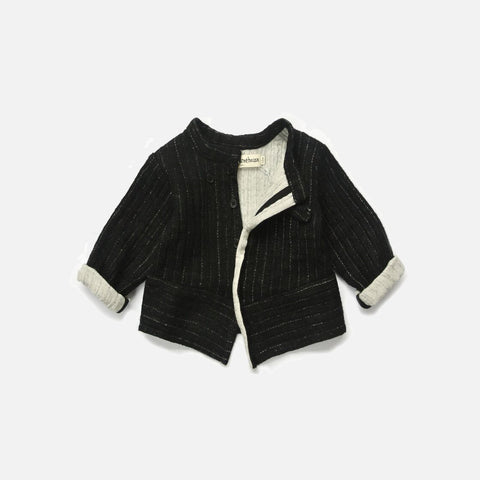 Wool/Cotton Jata Jacket - Black - 5-8y