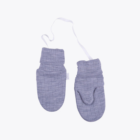 Merino wool mittens Grey or Navy - 6m-6y