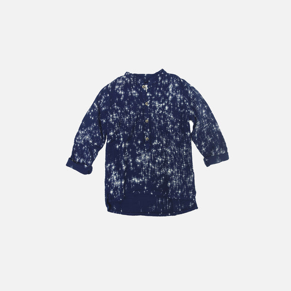 Juno Speckled Shirt - Indigo - 4-8y