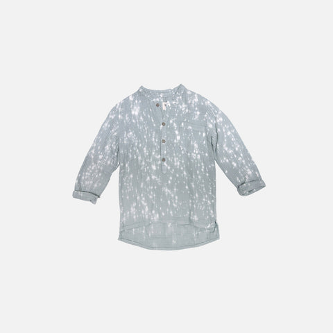 Juno Speckled Shirt - Sky - 2-6y