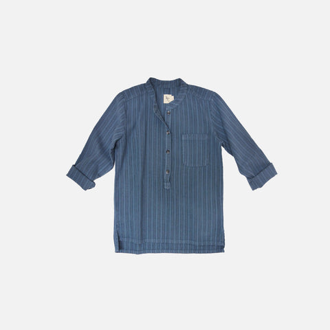 Juno Stripped Shirt  - Space Blue - 2-8y
