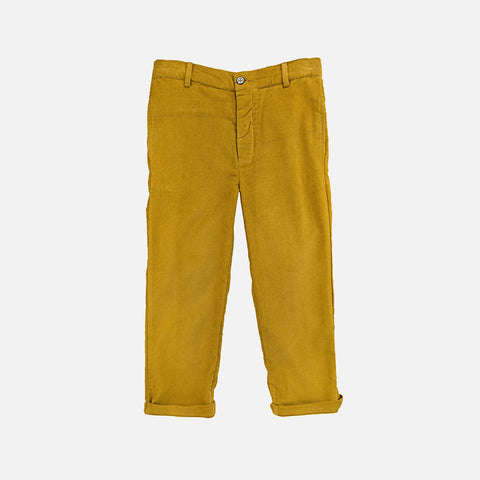 Cotton Leo Trousers - Curry - 3-8y