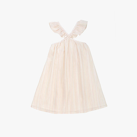Selma Stripe Dress - Ecru - 3-8y