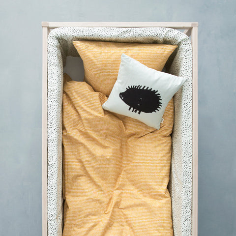 Organic Cotton Hedgehog Cushion - Mint