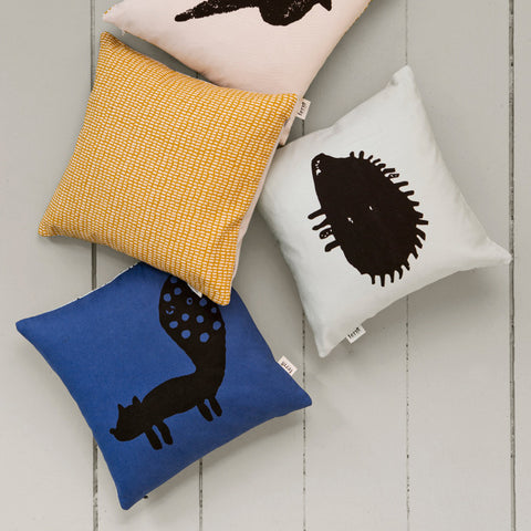 Organic Cotton Fox Cushion - Blue