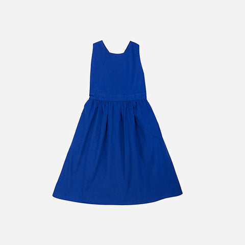 Zoe Apron Dress - Ultramarine - 3-4y