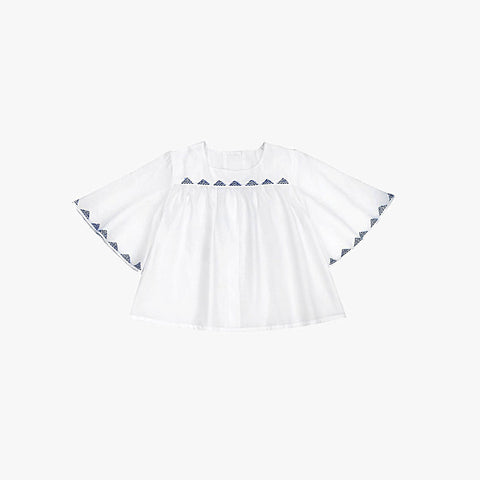Alba Embroidered Blouse - White - 3-8y