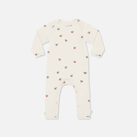 Organic Cotton Hygsoft Romper- Cherry - 6m-2y