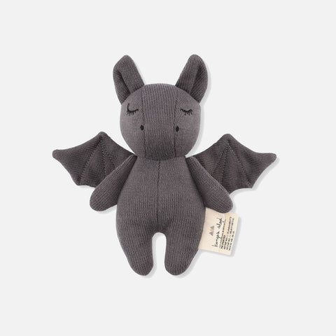Cotton Mini Rattle - Bat