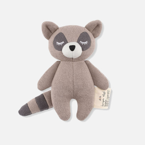 Cotton Mini Rattle - Racoon