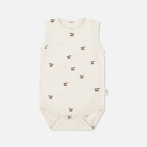 Organic Cotton Tank Body - Cherry - 6m-3y