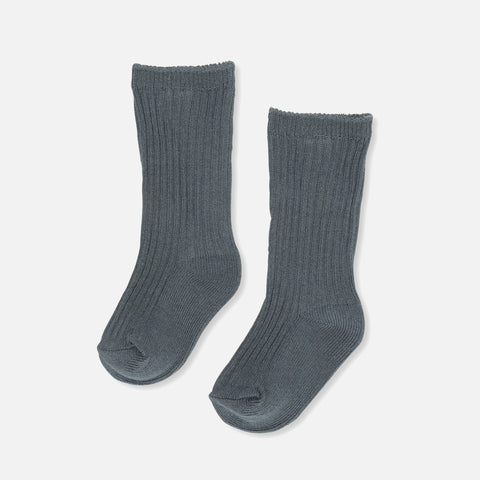Cotton Hisao Rib Socks - Teal