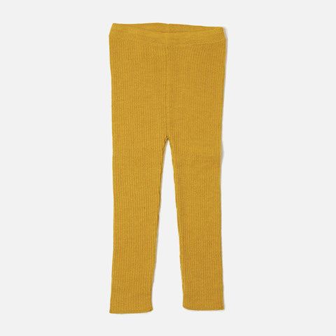 Alpaca Rib Leggings - Yellow - 6-8y