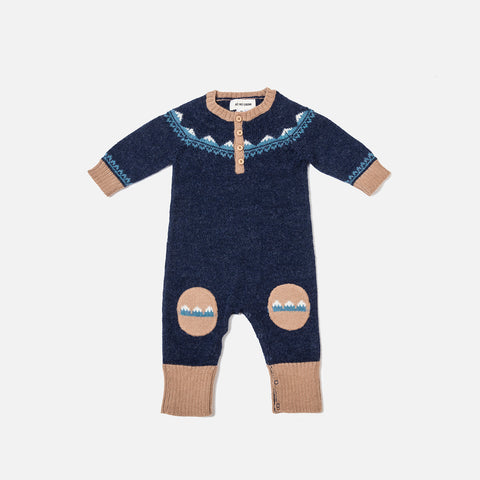 Alpaca Mountain Overall - Navy - 6m-3y