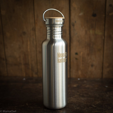 Stainless Steel Reflect Water Bottle - 800ml - Brushed Stainless