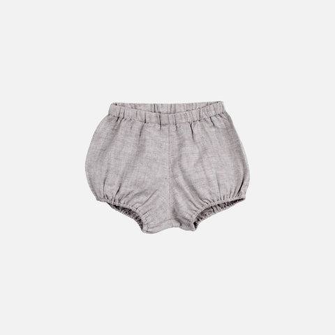 Cotton Poppy Bloomers - Grey Herringbone - 1-4y