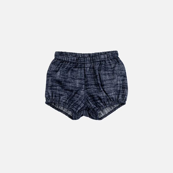 Cotton Poppy Bloomers - Dark Blue Chambray - 1-4y