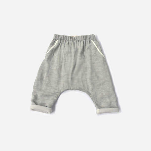 Lire Stripe Pants - Grey Marl - 8y