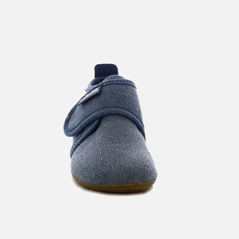Velcro Cotton Slipper Shoe - Jean