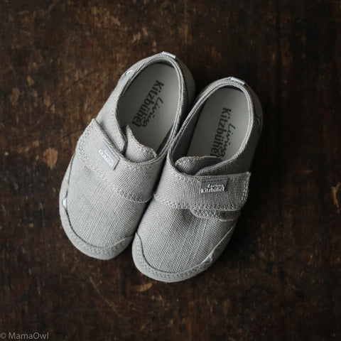 Velcro Cotton Canvas Slipper - Fog - 24-35