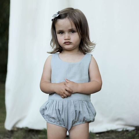 Cotton Lois Playsuit - Moonstone - 0m-18m
