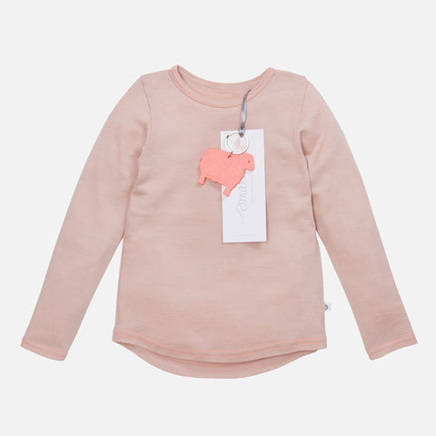Supersoft merino LS Top - Misty Rose - 2-8y