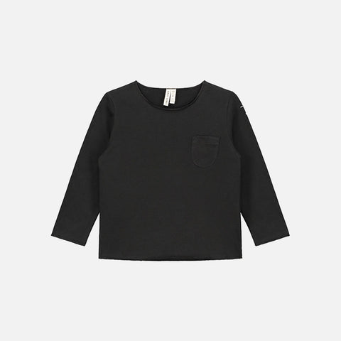 Organic LS Pocket Tee - Nearly Black - 1-10y