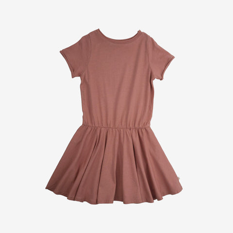 Organic Cotton Lilja Dress - Peach  - 2-10y