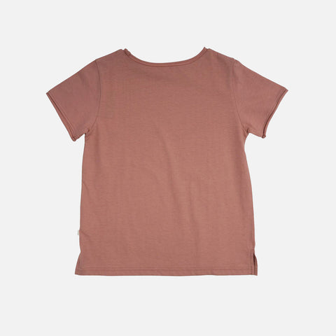 Organic Cotton SS Lyn Tee - Peach - 2y-10y