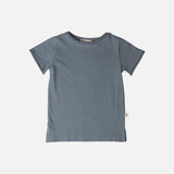 Organic Cotton SS Lyn Tee - Dusty Blue - 12m-6y