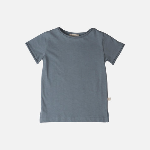 Organic Cotton SS Lyn Tee - Dusty Blue - 1-10y