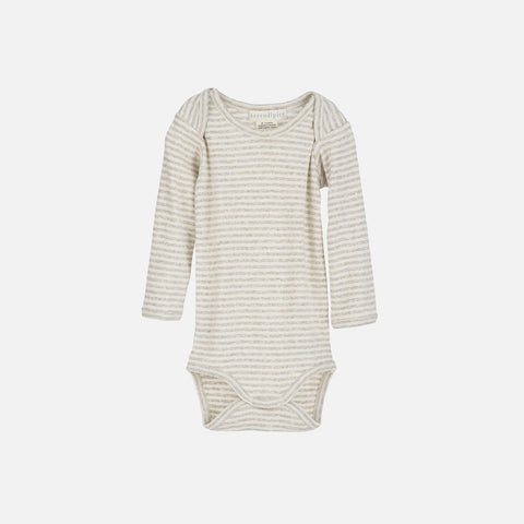 Organic Cotton Baby Body - Wheat/Ecru - 0m-2y