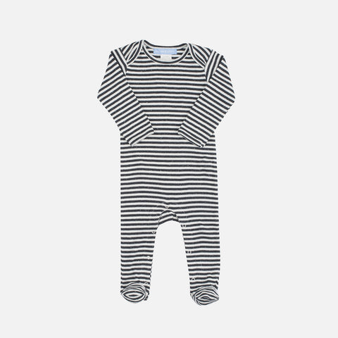 Organic Cotton Baby Suit - Granite/Offwhite - 6m-18m