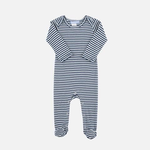 Organic Cotton Baby Suit - Orion Blue/Offwhite - 6m-18m