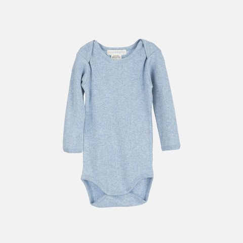 Organic Cotton Baby Body - Light Blue - 2y