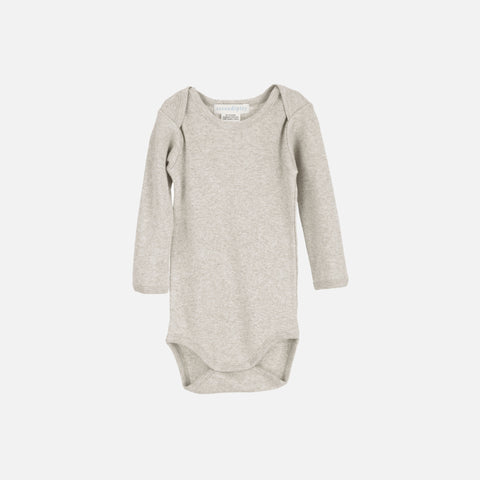 Organic Cotton Baby Body - Wheat/Warm Grey - 0m-2y