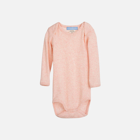 Organic Cotton Rib Baby Body - Rose - 0-9m