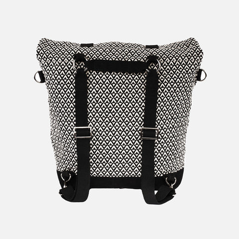 Global Traveller Cotton Changing bag - Road Trip - Black/White