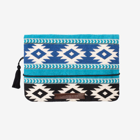 Cotton Nappy Clutch - Berber Love - Blue/Black