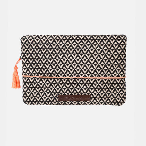Cotton Nappy Clutch - Road Trip - Black/White