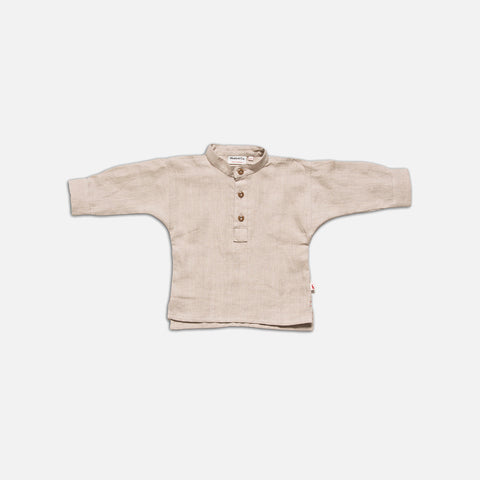 Linen Field Shirt - Ecru
