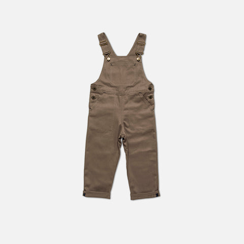 Cotton Porter Dungaree - Khaki - 1-10y