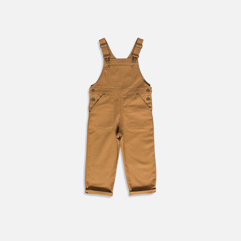 Cotton Porter Dungaree - Tan - 1-10y