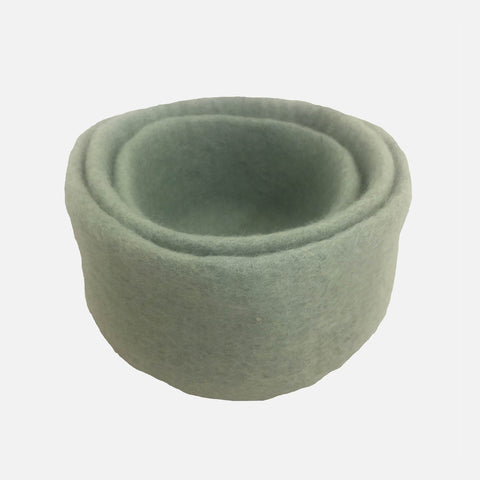 Felted Wool Nesting Bowls - Set of 3 - Sage