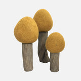 Felted Wool Earth Trees - Set of 3 - Spring