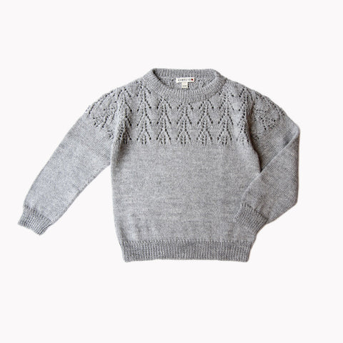 Exclusive Alpaca Magda Sweater - Dove Grey - 6m-8y