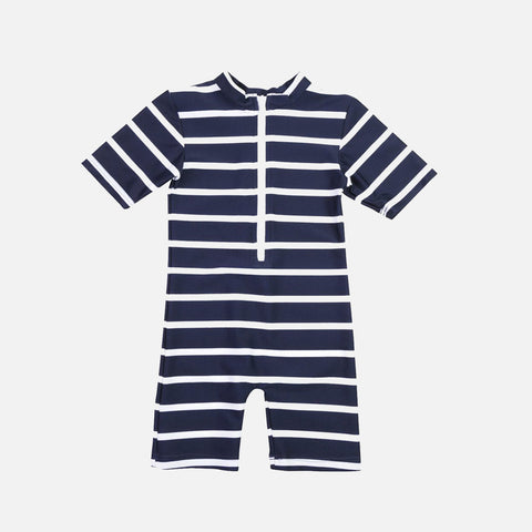 Noe UV Swim Sunsuit - Navy/White- 2-6y