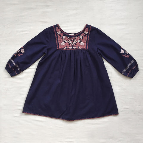Cotton Francoise Dress - Midnight - 2-7y