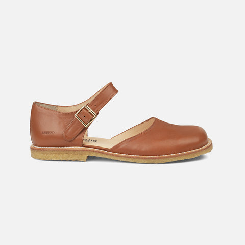 Women's Mary Jane Sandals - Cognac - 37 (UK 4.5) - 41 (UK 8.5)