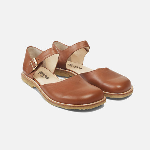 Women's Mary Jane Sandals - Cognac - 38 (UK 5)